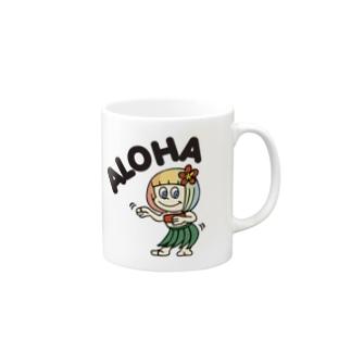 フラアロハ(ハワイを愛するあなたへ) Mugs