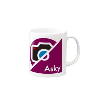 パ紋No.3397 Asky Mugs