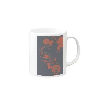 夏の草花(漆) Mugs