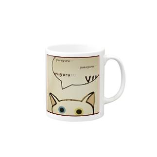 「そーっと・・・」(ゆる猫オッド) Mugs