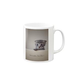 No cats,No life! Mugs