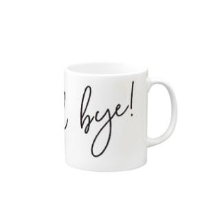 Good Bye! モダン黒 Mugs