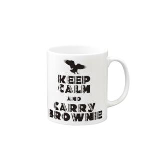 KEEP CALM AND CARRY BROWNIE2 Mugs