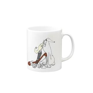 ボルゾイが好きです Mugs