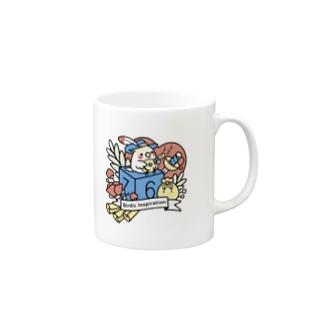 Chubby Bird オカメインコとマンドリン Birdic Inspiration Mugs