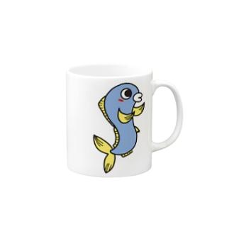 ペアルック 魚くん Mugs