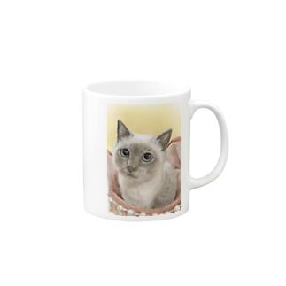 里親会保護猫ちゃん4 マグカップ