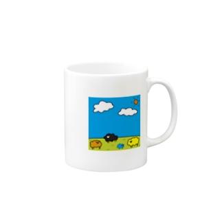 カラフルな羊たちが住む星🐏 Mugs