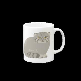 あおきさくらのマヌルネコ Mugs