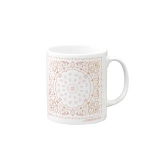 おやまくまバンダナ柄(ピンク) マグカップ