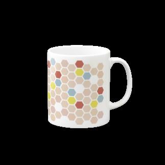 3pondSのpink honeycomb マグカップ