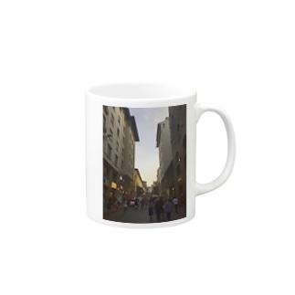 イタリアの街並み Mugs