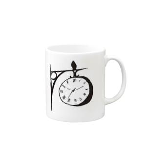 時計 マグカップ