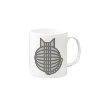 猫の丸い背中(サバトラ) マグカップ マグカップ