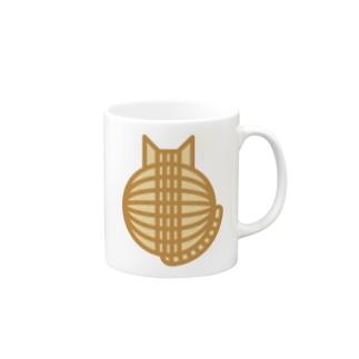 猫の丸い背中(チャトラ) マグカップ Mugs