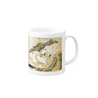 春画 蛸と海女 葛飾北斎  Mugs