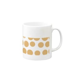 オレンジ水玉マグカップ Mugs