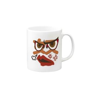 かおスタンプ「怒」 Mugs