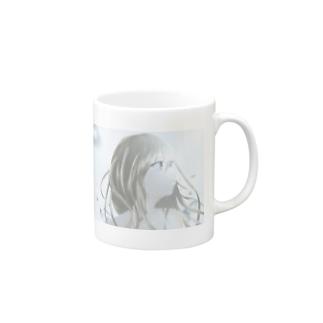 水滴に囲まれた少女 Mugs
