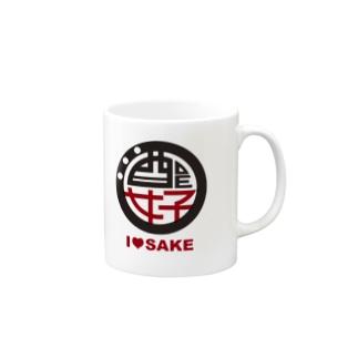 I♥SAKE女子会ロゴグッズ(色変更可能) Mugs