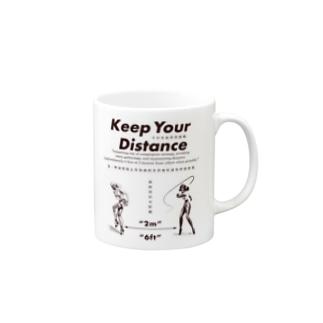 濃厚接触禁止 Mugs