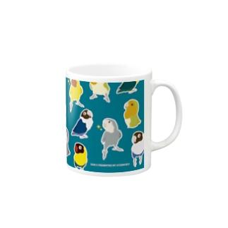 ラブバードさんのマグカップ Mugs