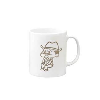 待機園長シリーズ (カウボーイ) Mugs