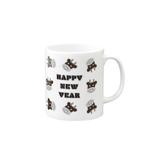 丑年HAPPY NEW YEAR Mugs