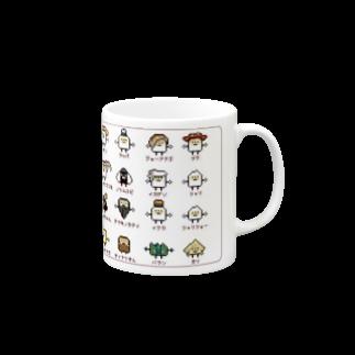 GRADUCAのPixelArt スシスッキー Mugs