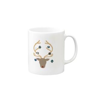 オーナメントナカイ Mugs