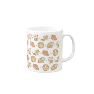 縁起物!開運!(白)【水星人のスイスイちゃん】 Mugs
