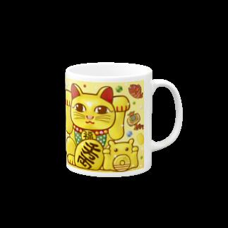 ひじりやノエルの開運!金運!縁起物!(亀)【両手 招き猫☆】 Mugs