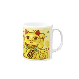 開運!金運!縁起物!(鶴)【両手 招き猫☆】 Mugs