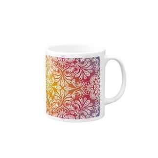オルテガ柄H Mugs