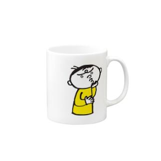 悩む男性 Mugs