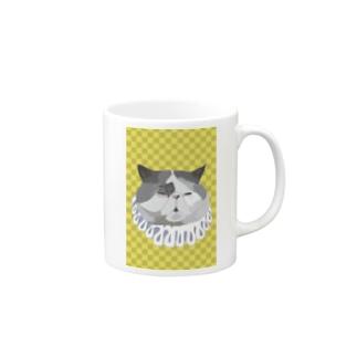 エキゾチックショートヘア 黄色格子 貴族編 Mugs