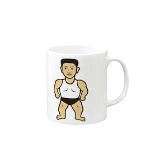 筋肉バッキバキ Mugs