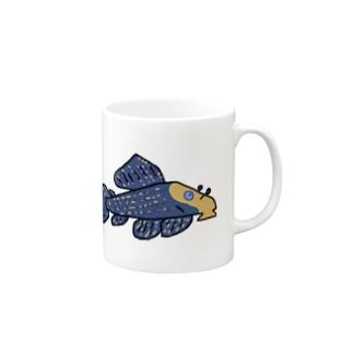 ハゲのの魚ボルグのむすたんぐとりむデザイン Mugs