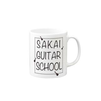 SAKAI GUITAR SCHOOL 黒文字 Mugs