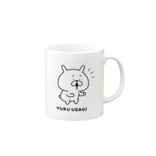 ゆるうさぎ えらい! Mugs