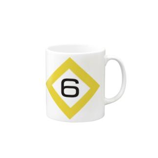 【鉄道グッズ】6両 停止位置目標 停目 Mugs