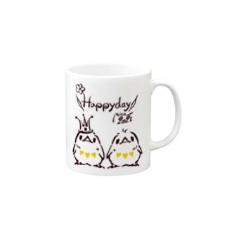 Happyday ひよこトリオ(3tone) Mugs