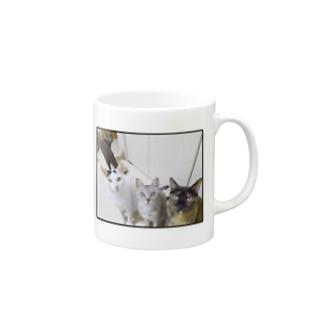 4匹集合マグカップ Mugs