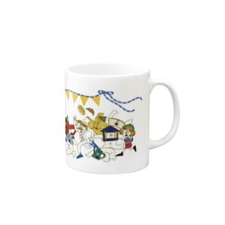 にぎやかフレンズ(カラー) Mugs