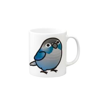 Chubby Bird ウロコインコ ターコイズ Mugs
