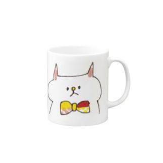 蝶ネクタイねこ Mugs