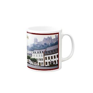 ドイツ:ハイデルベルク城と旧市街 Germany: view of Heidelberger Schloss Mugs