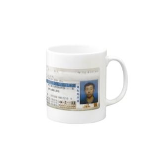 黄色い弾丸免許証 Mugs