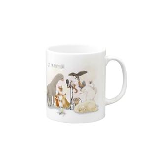 麦穂動物園 ロゴ有り Mugs
