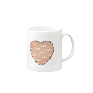 USHIハート Mugs